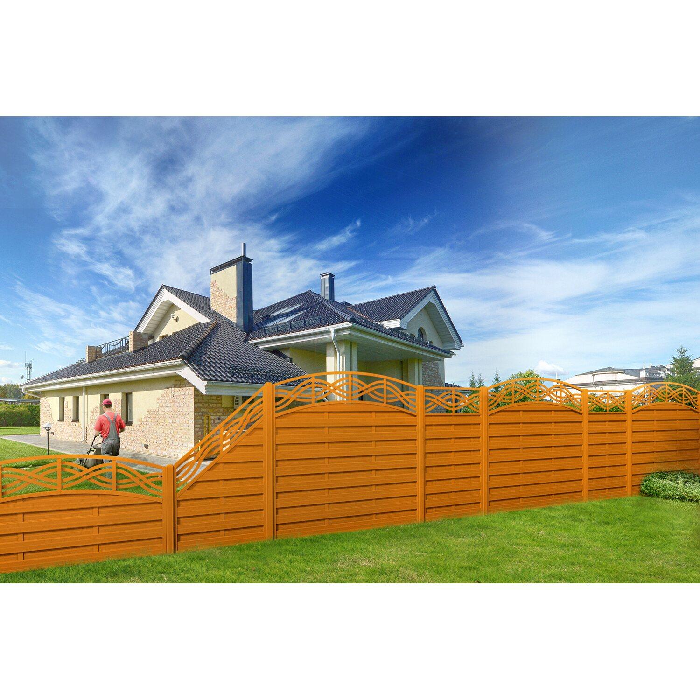 sichtschutzzaun element chateau tor pinienfarben 120 135 x. Black Bedroom Furniture Sets. Home Design Ideas