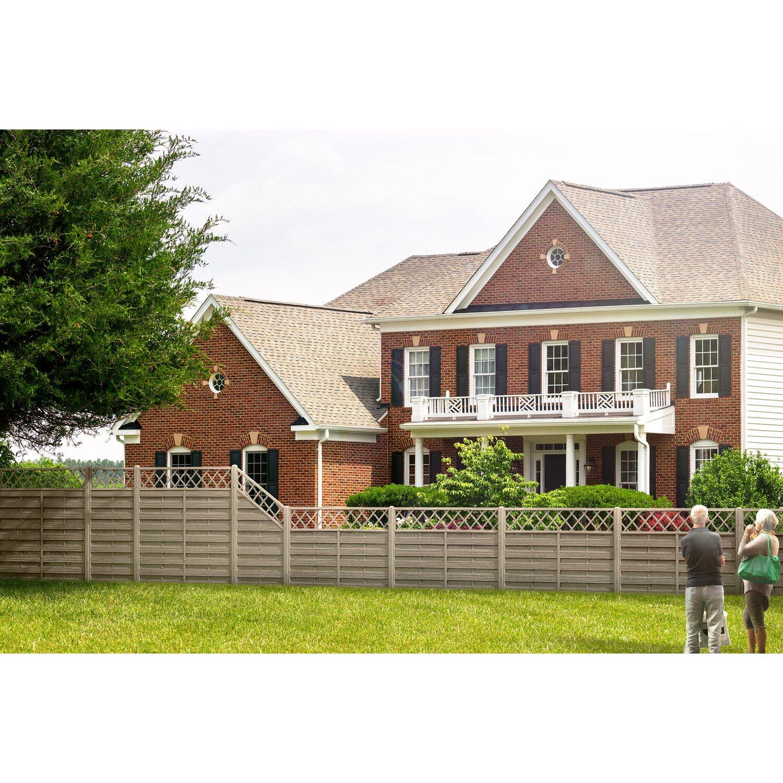sichtschutzzaun anschlusselement country grau 180 x 120 cm auf 90 cm kaufen bei obi. Black Bedroom Furniture Sets. Home Design Ideas