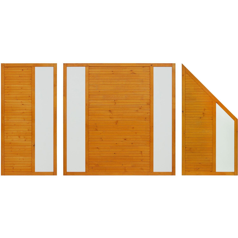 sichtschutzzaun element boston pinienfarben 180 cm x 90 cm kaufen bei obi. Black Bedroom Furniture Sets. Home Design Ideas