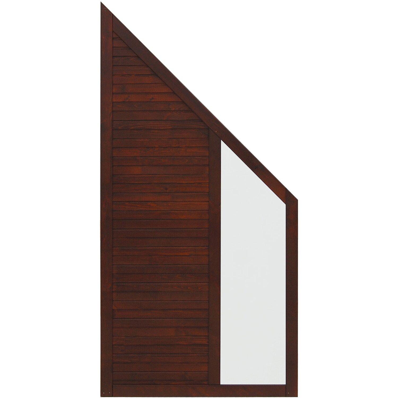 Andrewex Sichtschutzzaun Anschlusselement Boston Braun 180 x 90 cm auf 90 cm