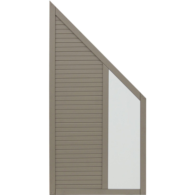 Andrewex Sichtschutzzaun Anschlusselement Boston Grau 180 x 90 cm auf 90 cm