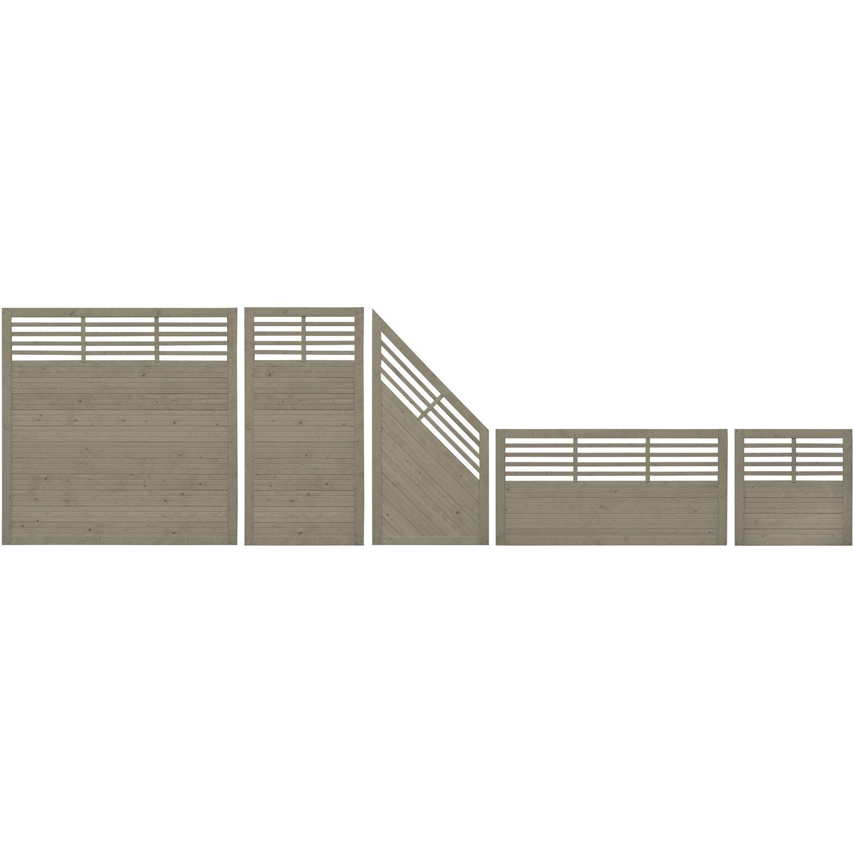 Sichtschutzzaun Element Manhattan Grau 90 cm x 100 cm kaufen bei OBI