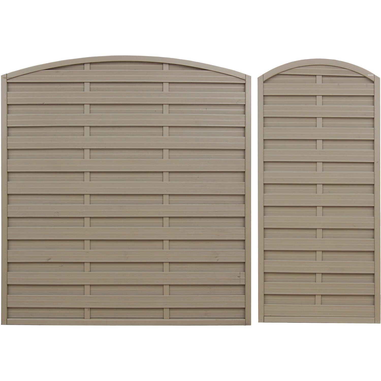 Sichtschutzzaun Element Munchen Grau 180 195 Cm X 180 Cm Kaufen