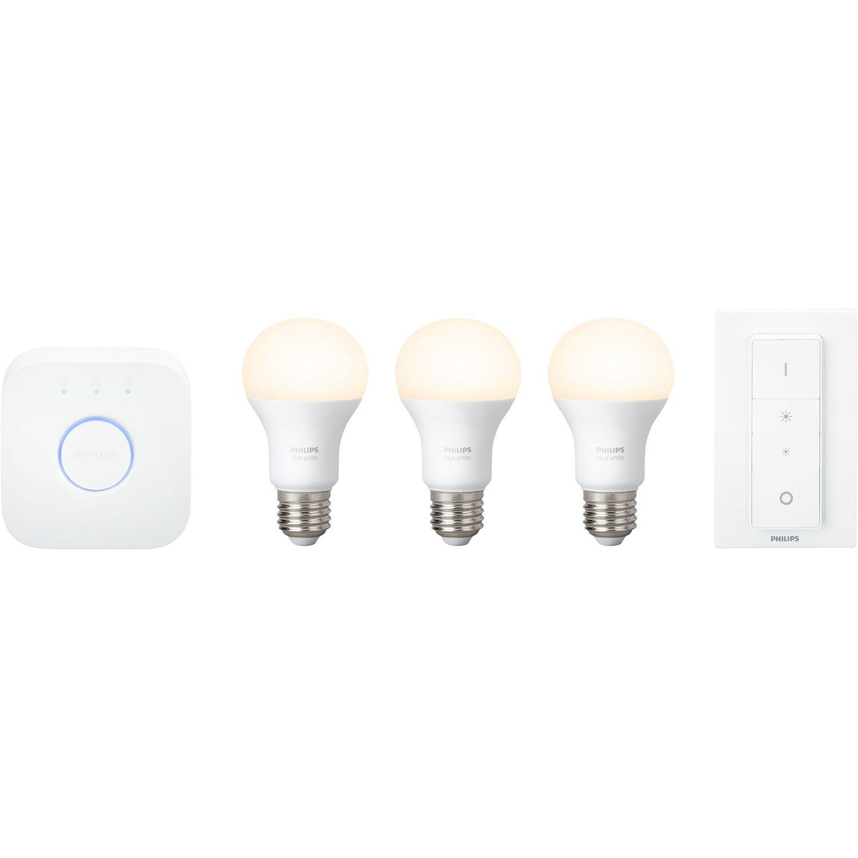 Philips Hue LED-Lampe White Starter Kit E27/9,5 W EEK: A+
