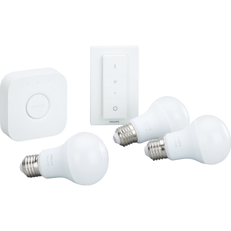 philips hue led lampe white starter kit e27 9 5 w eek a kaufen bei obi. Black Bedroom Furniture Sets. Home Design Ideas