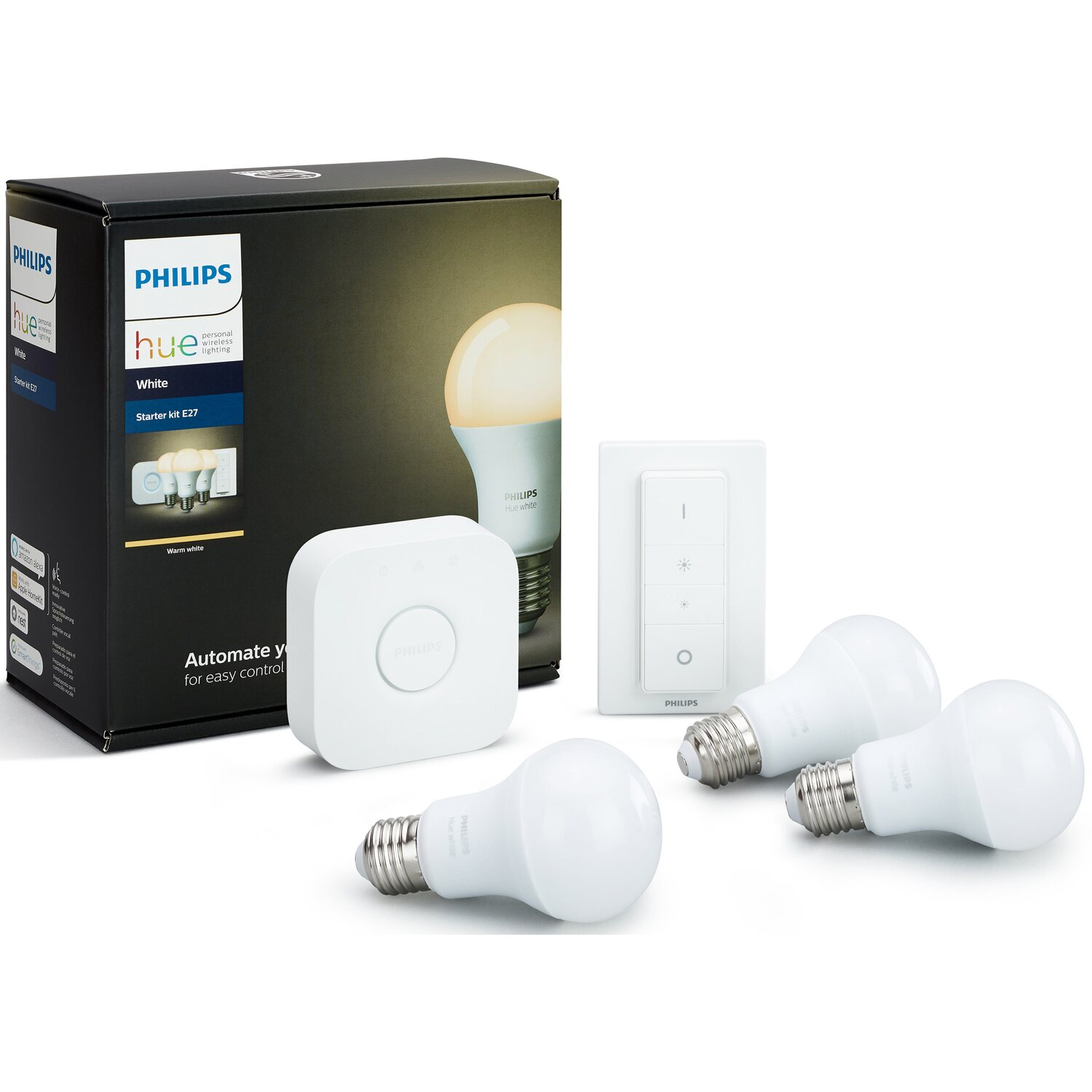 philips hue led lampe white starter kit e27 9 5 w eek a kaufen bei obi. Black Bedroom Furniture Sets. Home Design Ideas