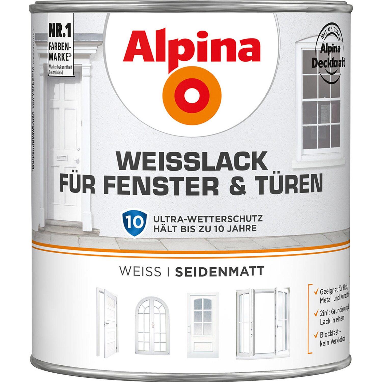 alpina weißlack für fenster & türen seidenmatt 2 l kaufen