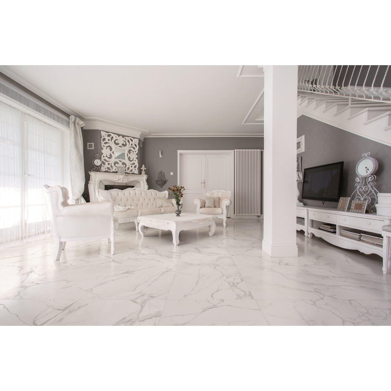 Feinsteinzeug Marmore Carrara 60 Cm X 60 Cm Kaufen Bei Obi