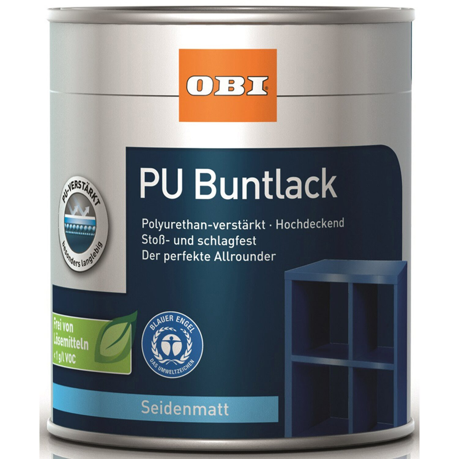 OBI PU Buntlack Coffee seidenmatt 750 ml