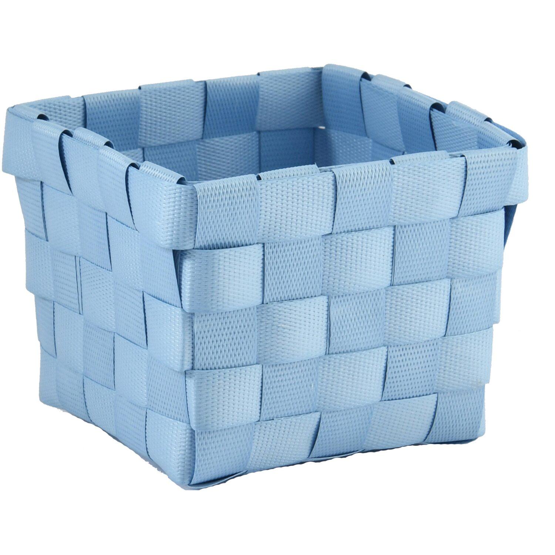 Aufbewahrungskorb PP-Geflecht Hellblau 10 cm x 10 cm x 7,5 cm
