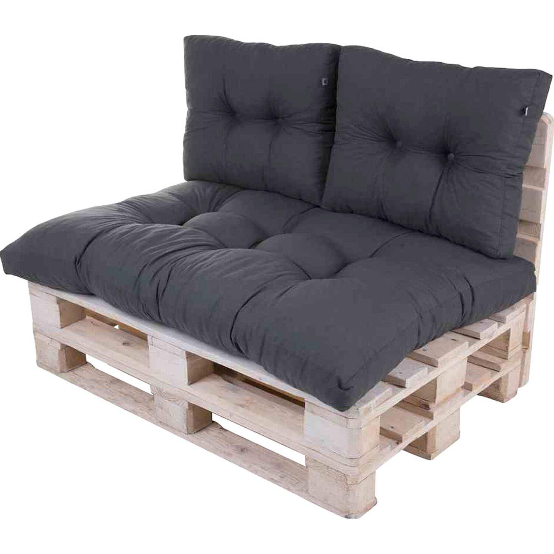 palettenkissen set grau 3 tlg mit flockenf llung kaufen. Black Bedroom Furniture Sets. Home Design Ideas
