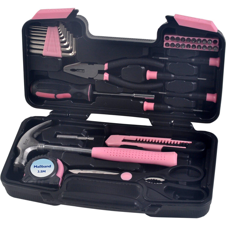 Werkzeugset 39 Teilig Pink Kaufen Bei Obi