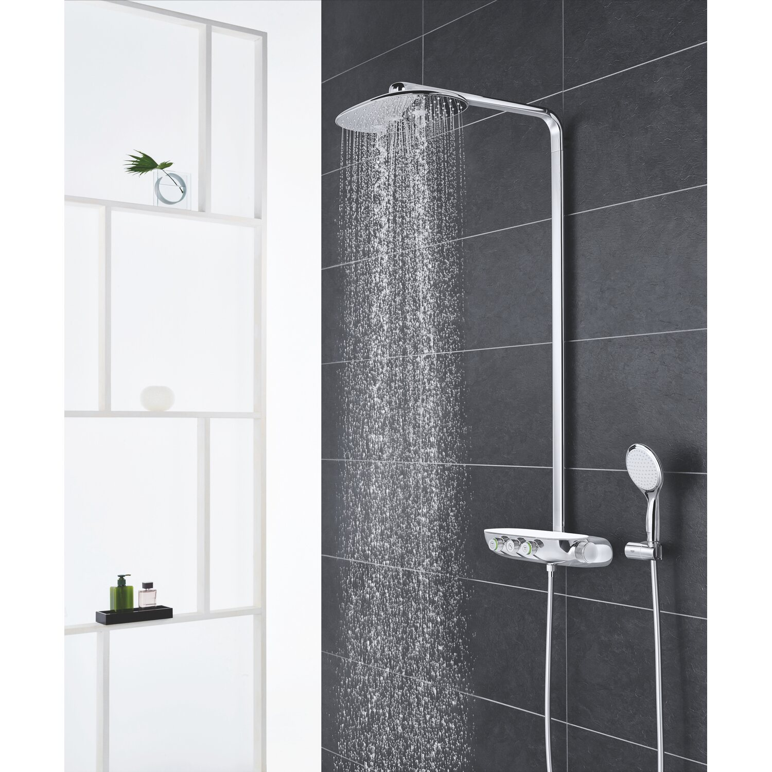 grohe duschsystem rainshower smartcontrol 360 duo mit. Black Bedroom Furniture Sets. Home Design Ideas