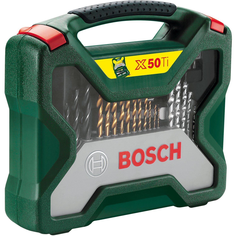 bosch bohrer- und bit-satz x-line titanium-set promoline 50-teilig