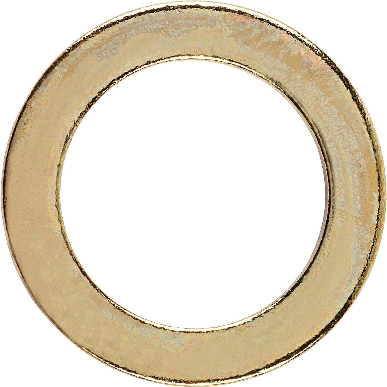 LUX Fitschenring Ø 9 mm Vermessingt 12 Stück