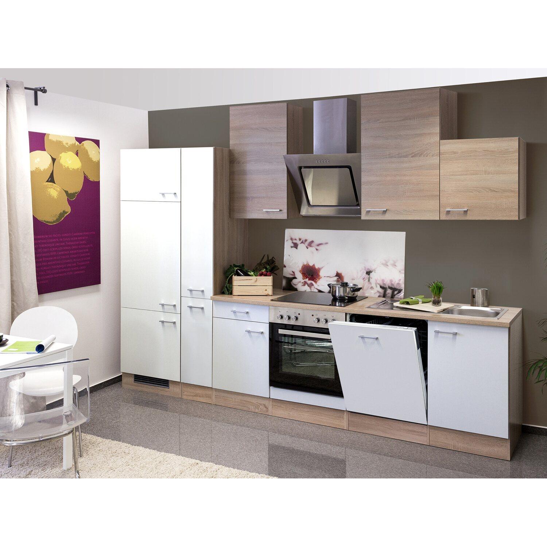 Flex-Well Classic Küchenzeile Florida 310 cm Sonoma Eiche-Weiß ...