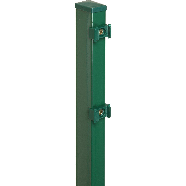 Pfosten für Doppelstabmattenzaun Grün 200 cm