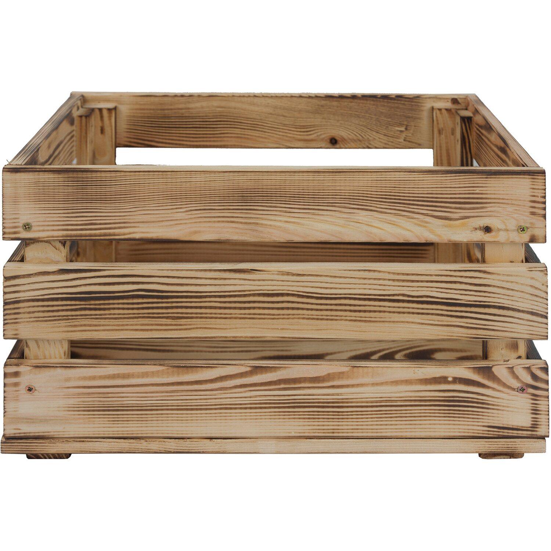 Holzkiste L Kiefer Geflammt 23 9 Cm X 39 Cm X 29 2 Cm Kaufen Bei Obi