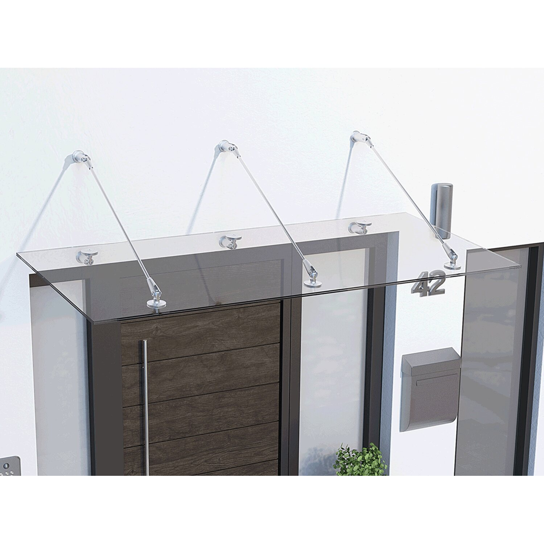 Vordach Davita 2.0 Echtglas/Edelstahl 50,6 cm x 200 cm x 90,7 cm   Baumarkt > Modernisieren und Baün > Vordächer   Schulte
