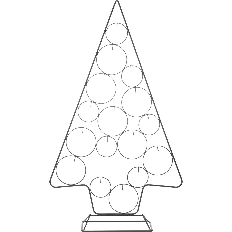 Weihnachtsbaum Metall.Metall Weihnachtsbaum Mit 16 Aufhängern Für Kugeln Schwarz Kaufen