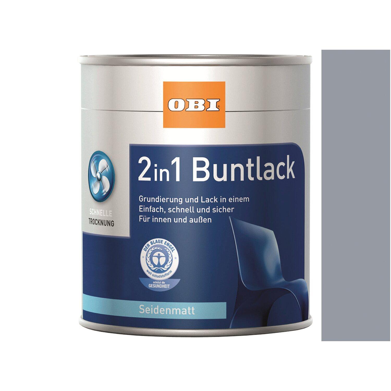 OBI  2in1 Buntlack Silbergrau seidenmatt 2,5 l