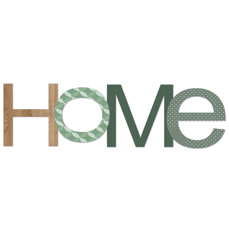 Pro-Art Wandtattoo Home in Green 25 cm x 70 cm x 0,8 cm