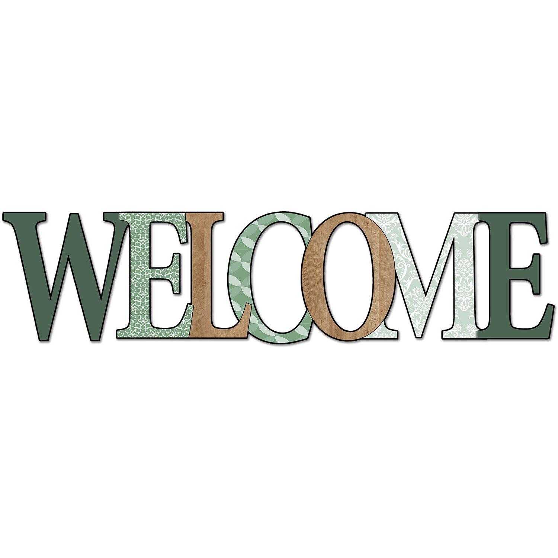 Pro-Art Wandtattoo Welcome in Green 30 cm x 118 cm x 0,5 cm