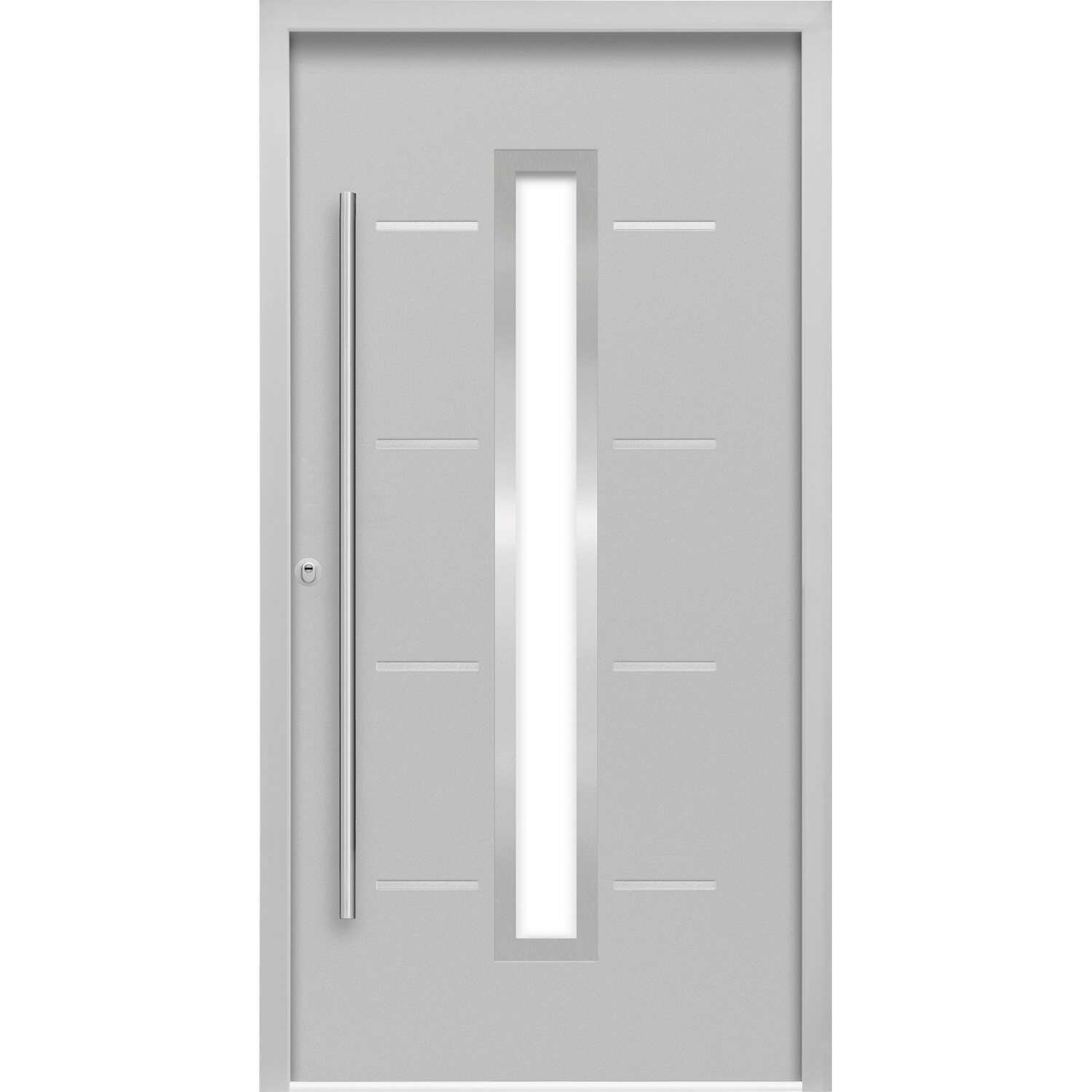 Sicherheits-Haustür ThermoSpace Milano RC2 Komfort 110 x 210 cm Grau Links
