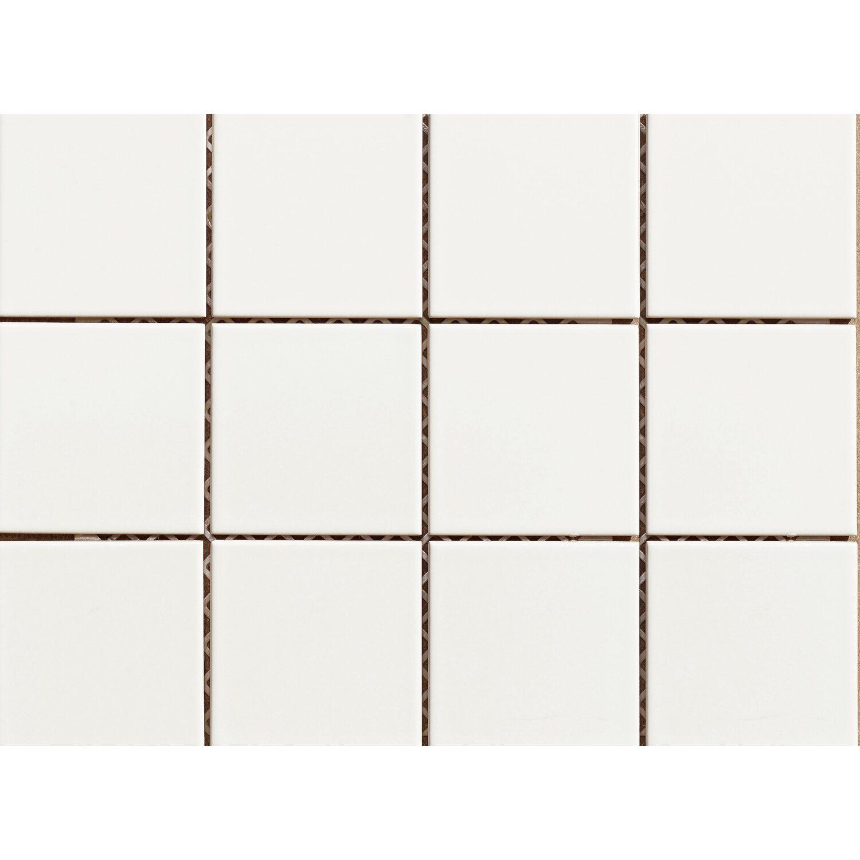 Mosaik Weiß Glänzend Cm X Cm Kaufen Bei OBI - Weiße fliesen 10x10