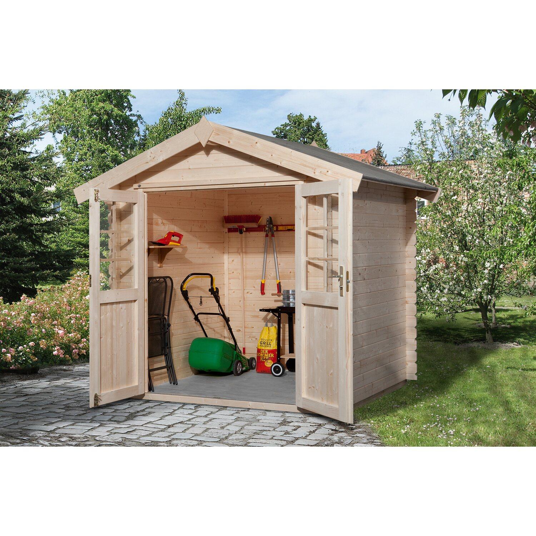 Weka Holz Gartenhaus 209 Gr 1 Natur Bxt 200 Cm X 200 Cm Kaufen Bei Obi