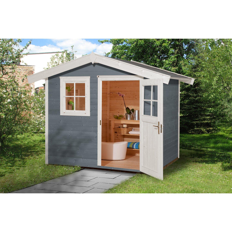 Weka Holz Gartenhaus 123 Gr 1 Grau Bxt 240 Cm X 205 Cm Kaufen Bei Obi