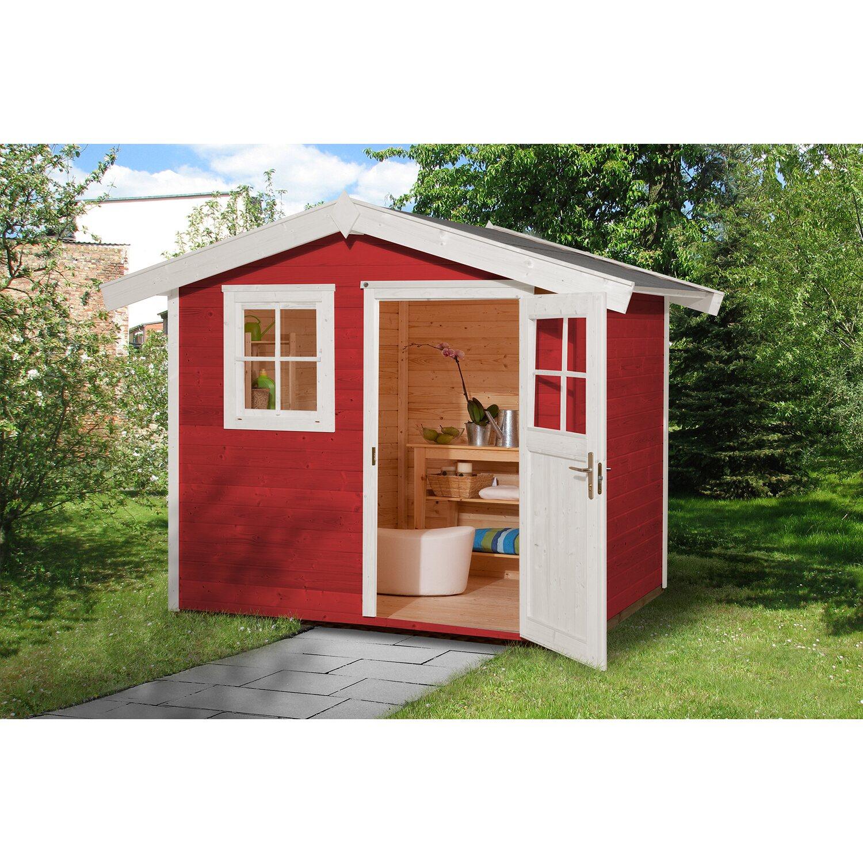 Weka Holz Gartenhaus 123 Gr 1 Schwedenrot Bxt 240 Cm X 205 Cm Kaufen Bei Obi
