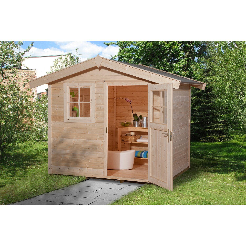 Weka Holz Gartenhaus 123 Gr 1 Natur Bxt 240 Cm X 205 Cm Kaufen Bei Obi
