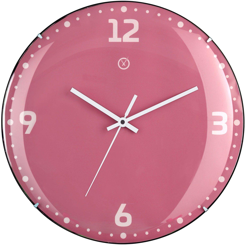 Sompex Clocks Wanduhr Rio Dome Pink kaufen bei OBI