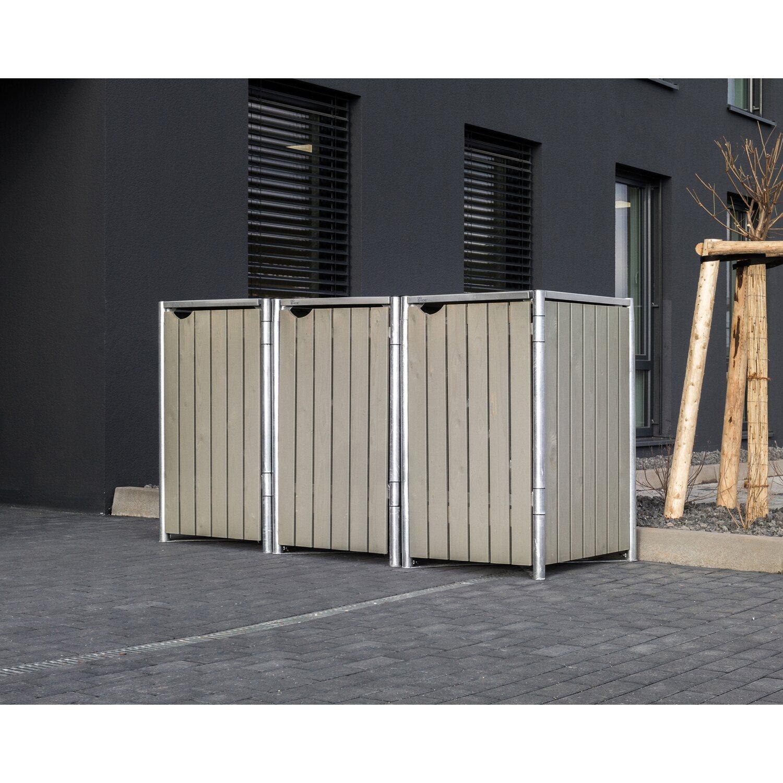 Mülltonnenbox 240L Müllcontainer Holzverkleidung Verkleidung Tonnen Müllbox