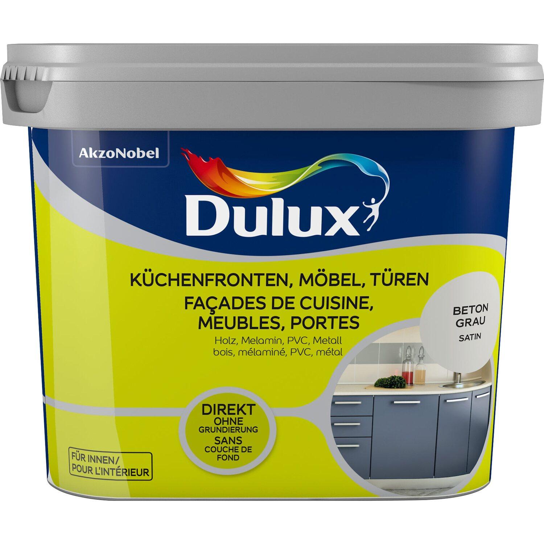 Dulux Fresh Up Lack für Küchen, Möbel und Türen Satin Beton-Grau 750 ml