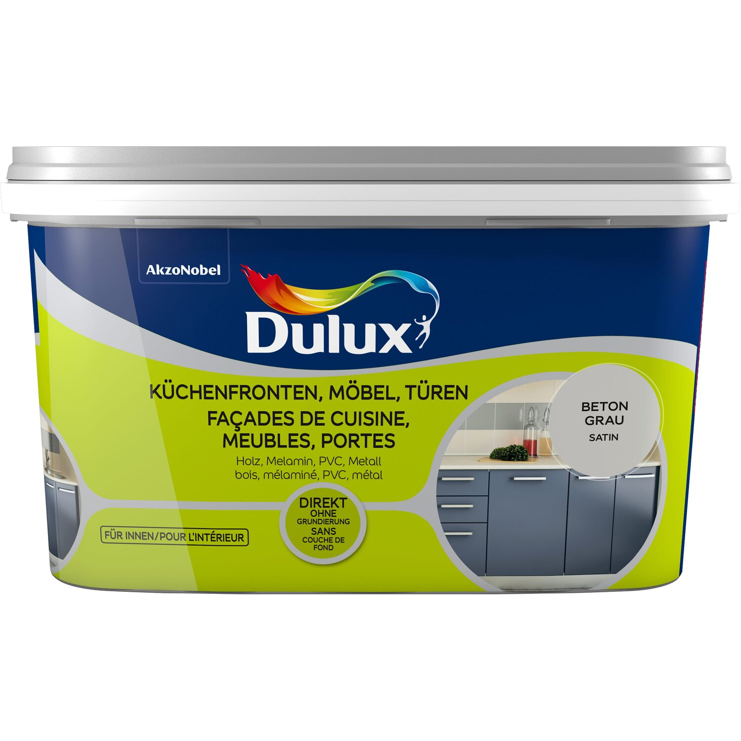 Dulux Fresh Up Lack Fur Kuchenfronten Mobel Und Turen Satin Beton
