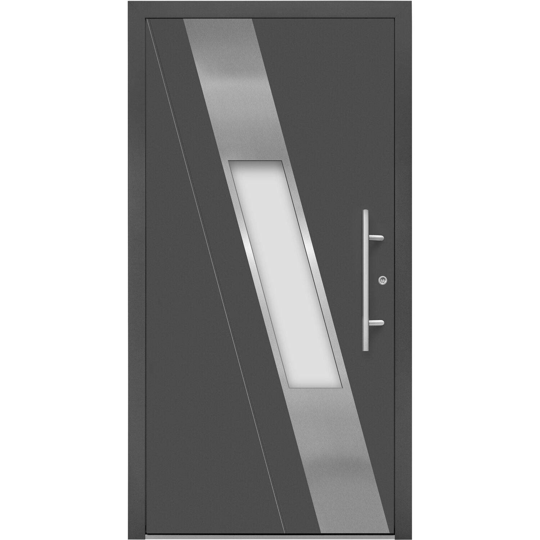 Aluminium-Haustür Moderno M540/B 110 cm x 210 cm Anthrazit Metallic ...