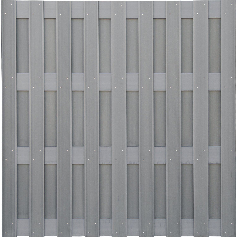 Wpc Zaun Hellgrau 180 Cm X 180 Cm Kaufen Bei Obi
