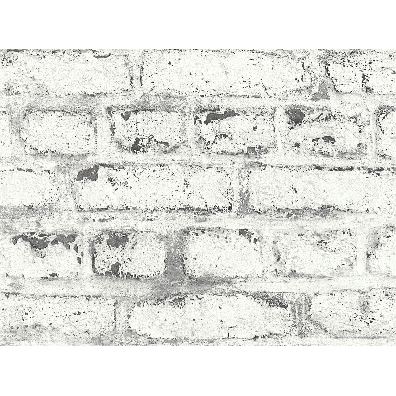 Vliestapete weiß grau Stein Home Style Rasch 860009 2,67€//1qm