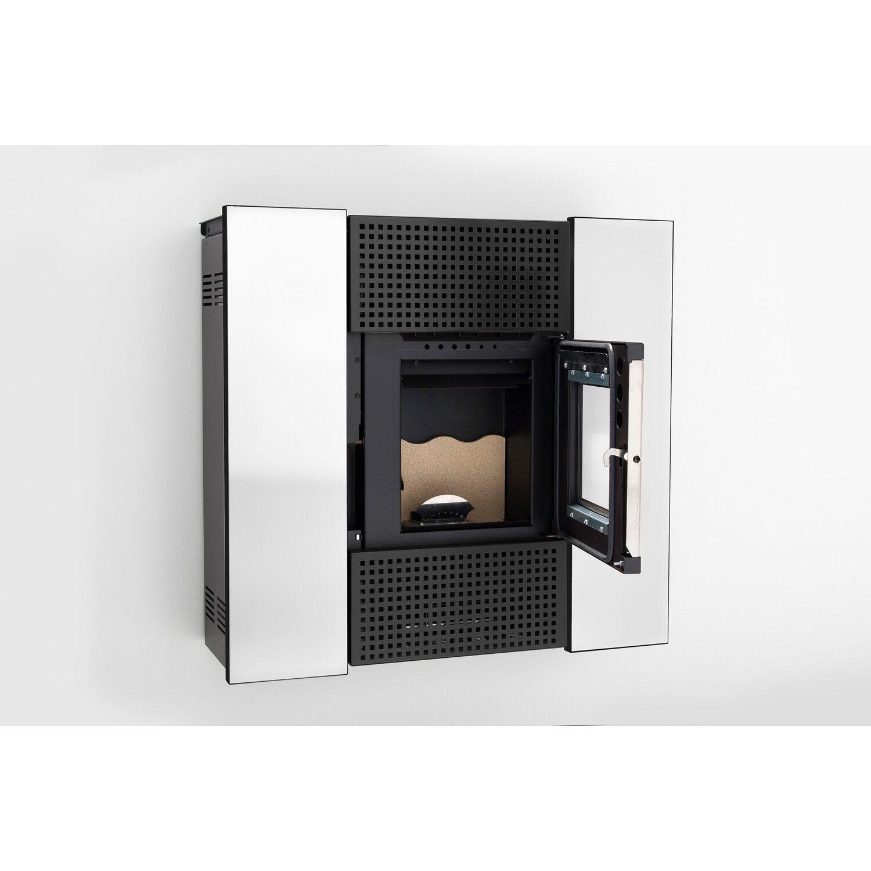 freepoint pelletofen square glas wei 6 5 kw eek a kaufen bei obi. Black Bedroom Furniture Sets. Home Design Ideas