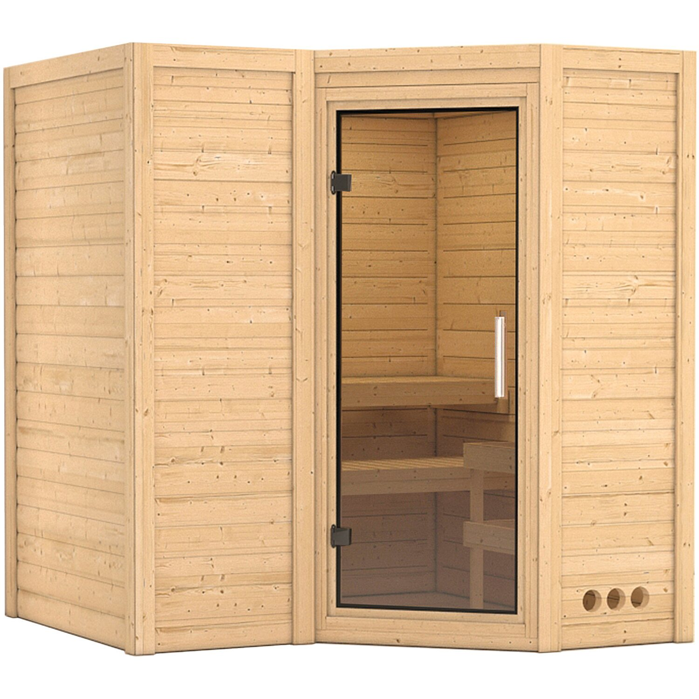 Karibu Sauna Steena 1 mit Glastür | Bad > Sauna & Zubehör | Karibu