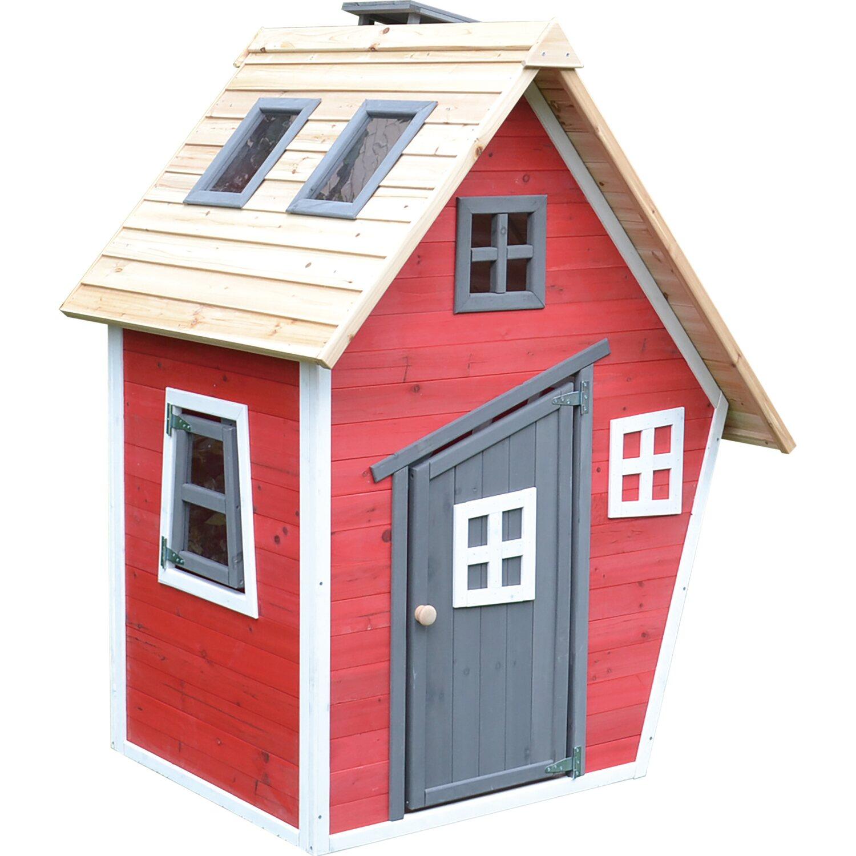 Spielhaus Rot 160 cm x 83,8 cm x 79,4 cm