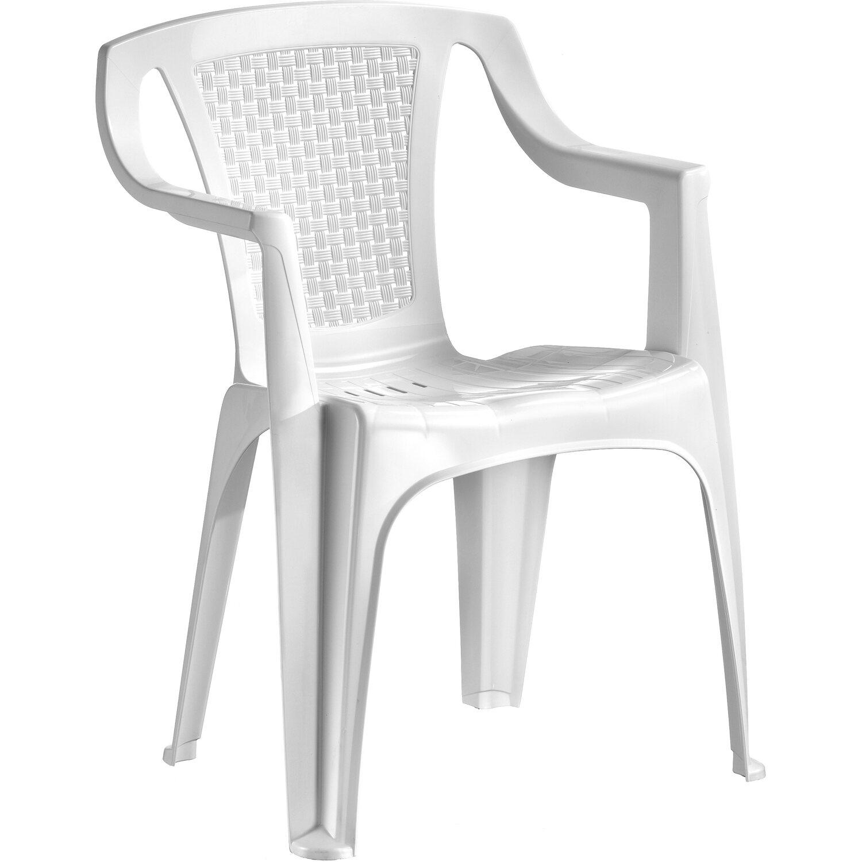 Bekannt Gartenstuhl Luna Kunststoff Weiß kaufen bei OBI PH96