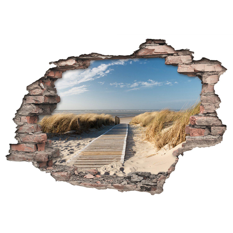 Euroart Wandsticker Strandweg  Hole in the Wall 50 cm x 70 cm | Dekoration > Wandtattoos > Wandtattoos | Euroart