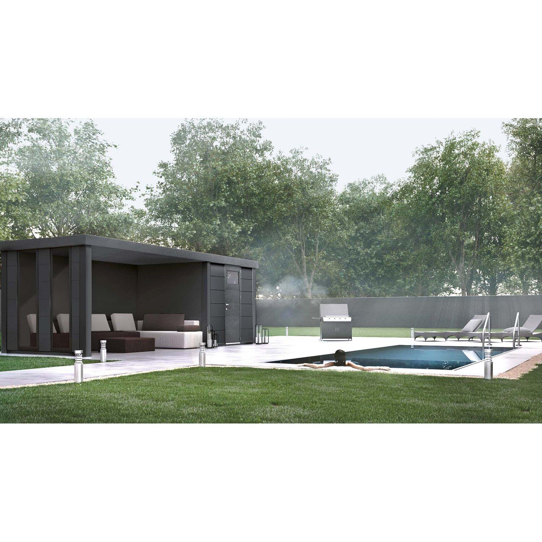 Wolff Finnhaus Metall Gartenhaus Eleganto 2424 Lounge Links Anthrazit 522x238 Cm Kaufen Bei Obi