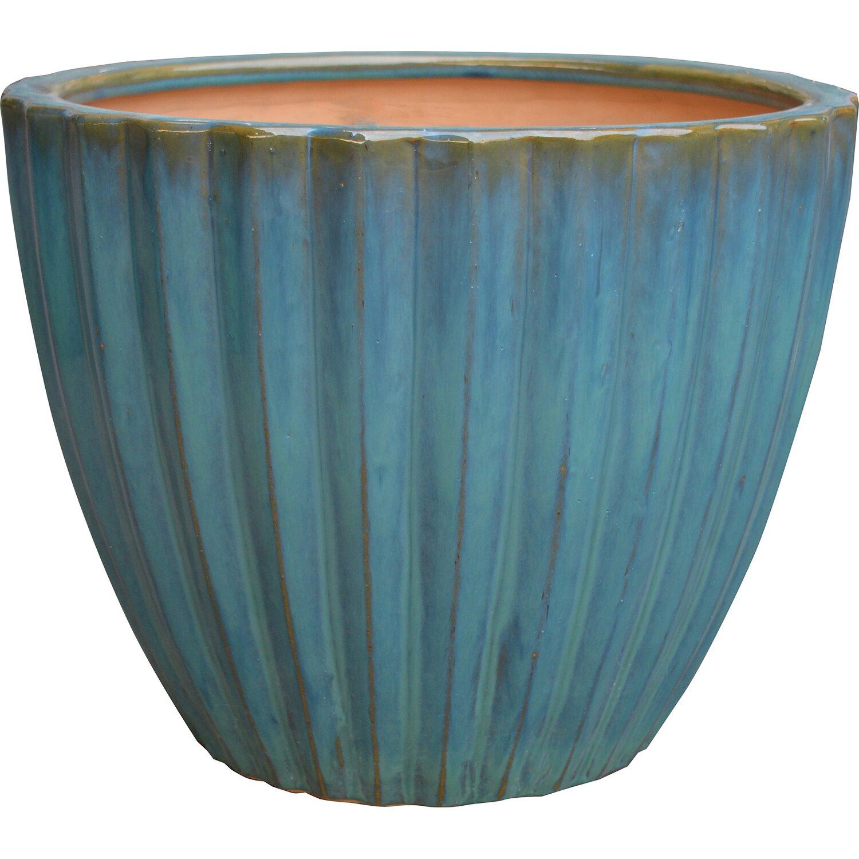 Bloomingville Blumentopf Blau 15 cm Übertopf Terracotta Topf Pflanztopf H15 cm