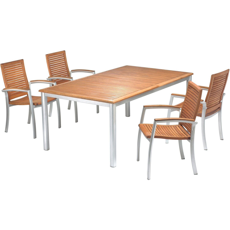 Gartentisch ausziehbar holz  OBI Holz-Gartentisch Harris 180 cm - 240 cm x 107 cm Braun ...