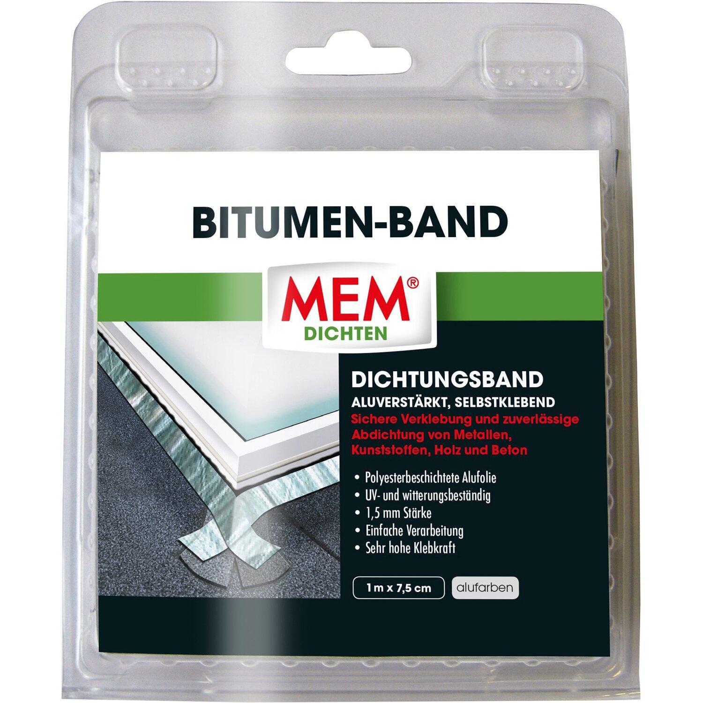 MEM Bitumen-Band Alu 7,5 cm x 1 m