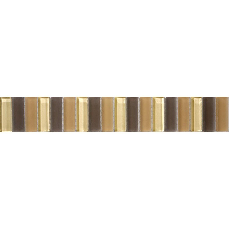 Sonstige Glasbordüre Beige Braun Mix 5 cm x 30 cm